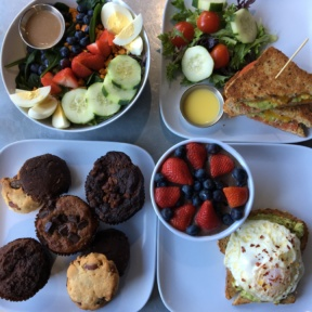 Gluten-free salad, toasts, and desserts from Granola Bar