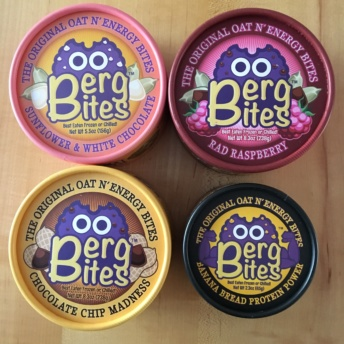 Four gluten-free bites by Berg Bites