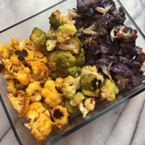 Gluten-free roasted colorful cauliflower