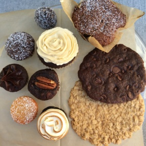 Dairy free baked goods from Katie's Bakery in Pasadena