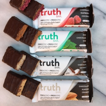 Four gluten-free bars by Truth Bar
