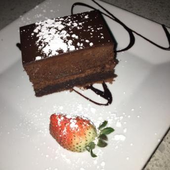 Flourless chocolate cake from Lulu California Bistro