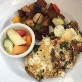 Gluten-free omelette at Trio
