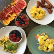 Gluten-free brunch spread from Cheeky's