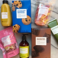 Assorted gluten-free products from Brandless