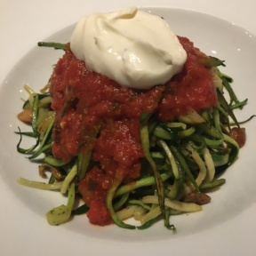 Zucchini linguine from Char