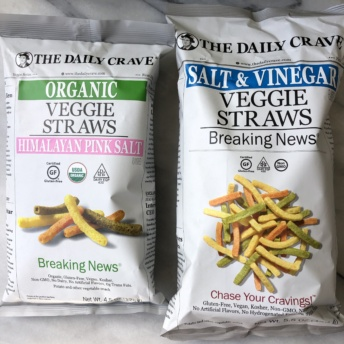 Gluten-free vegan veggie straws from The Daily Crave