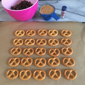 Ingredients for Chocolate Covered Peanut Butter Pretzels