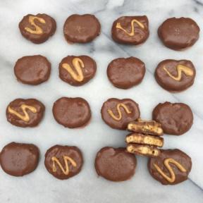 Gluten-free Chocolate Covered Peanut Butter Pretzels
