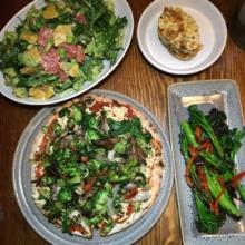 Gluten-free vegan dinner spread from Plum Bistro
