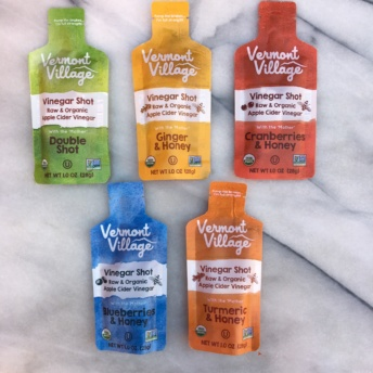 Apple cider vinegar shots by Vermont Village