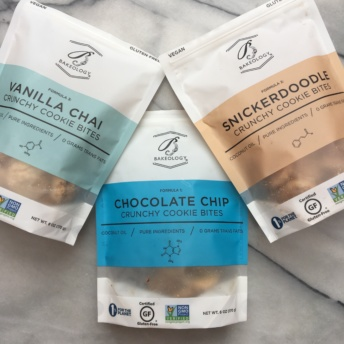 Three types of certified gluten-free cookies by Bakeology