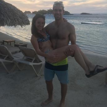 Jackie and Brendan at Sandals Royal Caribbean