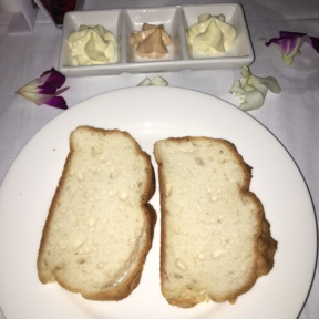 Gluten-free bread and butter from The Regency