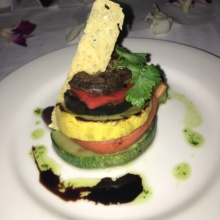 Gluten-free grilled vegetable Napoleon from The Regency