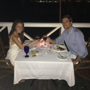 Jackie and Brendan eating at The Regency