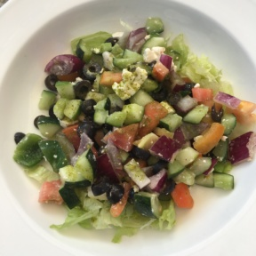 Gluten-free Greek salad from The Mariner
