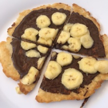 Gluten-free chocolate banana pizza from Bella Napoli Pizzeria