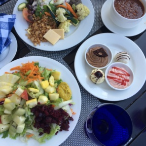 Gluten-free salads and desserts from The Regency at Sandals