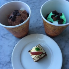 Gluten-free ice cream and cake from Cafe de Paris