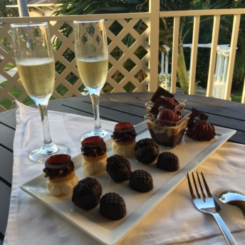 Chocolate and champagne from Sandals Royal Caribbean