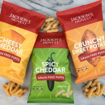 Gluten-free grain-free puffs from Jackson's Honest