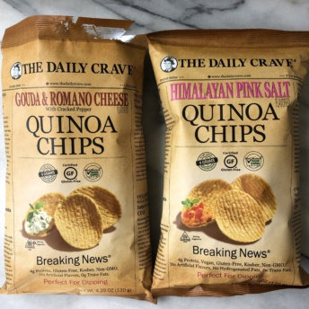 Gluten-free quinoa chips from The Daily Crave