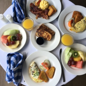 Breakfast spread from Club Sandals