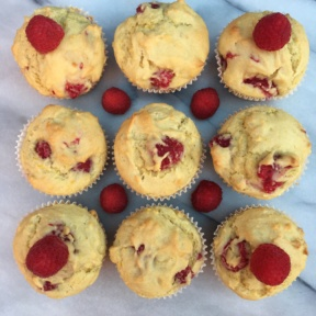 Dairy free Raspberry Muffins