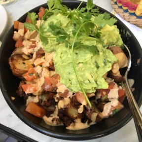 Gluten-free guacamole with potatoes from Gracias Madre