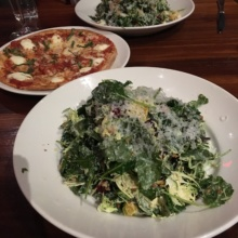 Gluten-free salads and pizza from Del Frisco's Grille