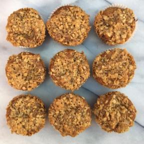 Dairy-free Cinnamon Streusel Muffins