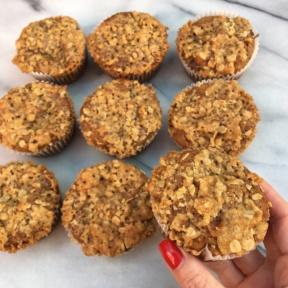 Gluten-free Cinnamon Streusel Muffins