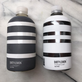 Charcoal and collagen drinks by Dirty Lemon