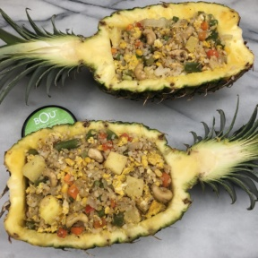 Cauliflower Fried Rice in Pineapple Boats made with BOU