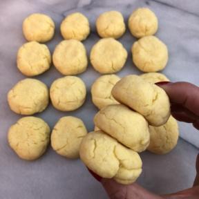 Stack of gluten-free sugar-free cookies