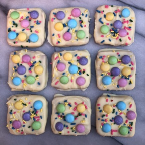Easter Chocolate Bark with M&M's