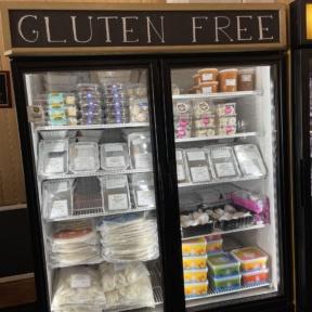 Gluten-free freezer section at Lola's Italian Kitchen