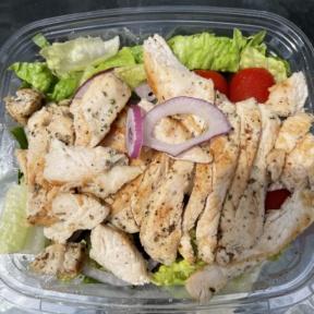 Gluten-free garden salad with chicken from Lola's Italian Kitchen