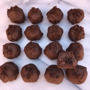 Gluten-free Brownie Truffles with paleo frosting
