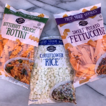 Gluten-free veggie noodles and rice by Mann's Fresh Vegetables