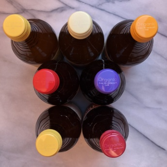 Bottles of Humm Kombucha