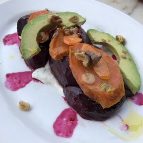 Roasted carrots and beets from Parc Restaurant