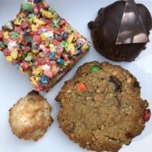 Gluten-free flourless baked goods at Flying Monkey Bakery