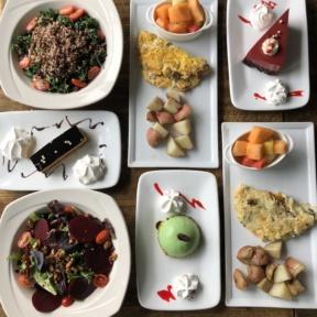 Gluten-free lunch spread from ChouChou