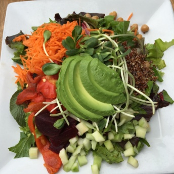 Salad with avocado and veggies
