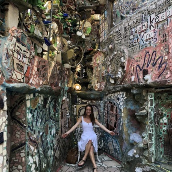 Jackie in Philadelphia Magic Gardens