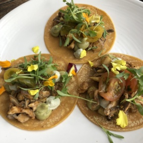 Vegan tacos from Plant Food + Wine