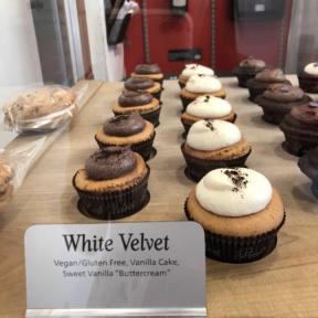 White velvet cupcake from Red Velvet Cupcakery