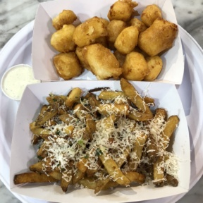 Gluten-free fries and cheese curds from Fox & Son